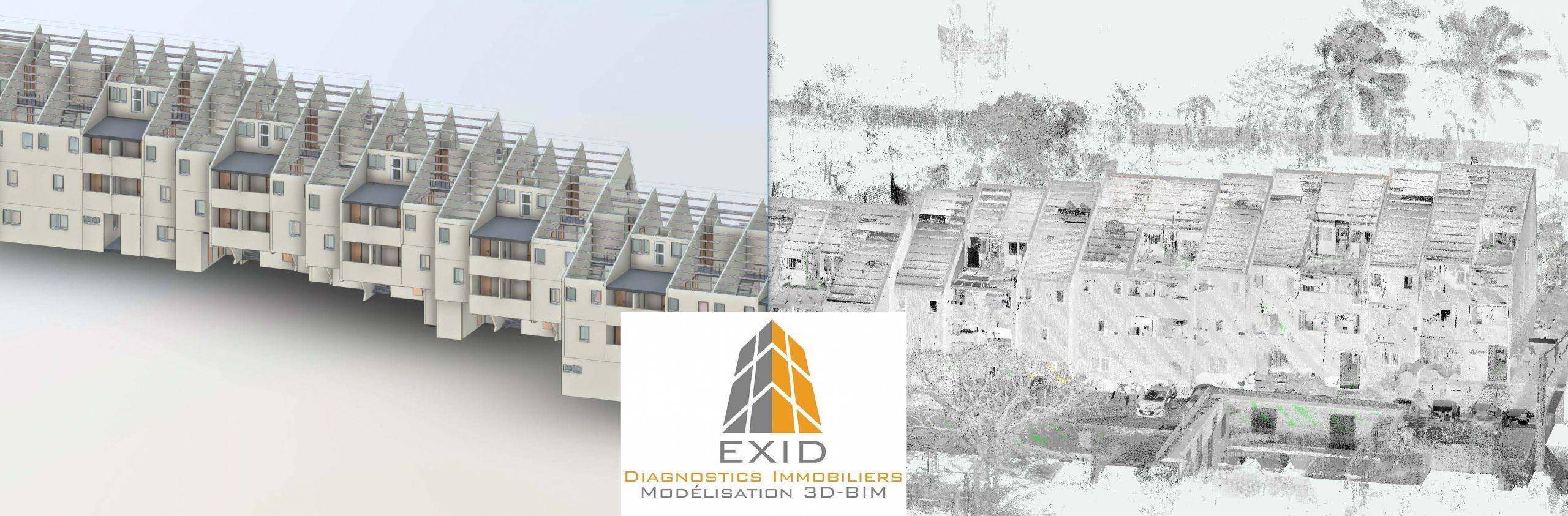 Modélisation 3D de bâtiment existant - Exid Diagnostic